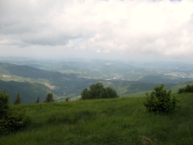 Salita al Monte Boglelio - panorama sulla val Curone