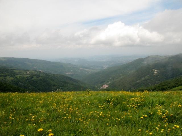 Panorama sulla val Curone dal Monte Chiappo