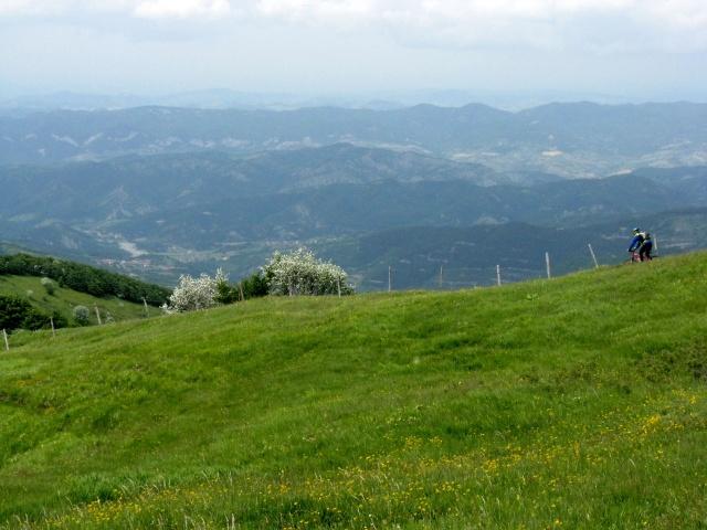 Discesa dal Monte Cosfrone - panorama sulla vallata