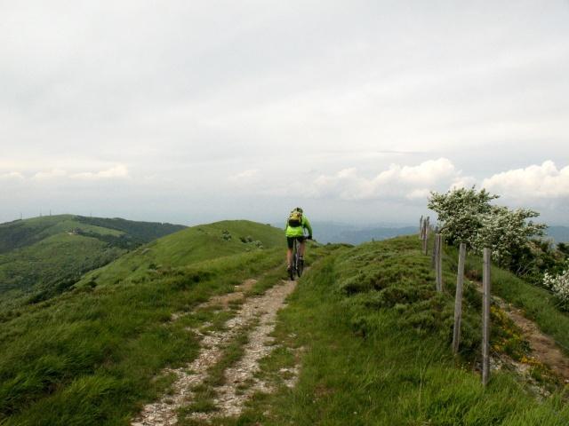 In direzione del Monte Giarolo