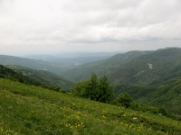Strada per il Monte Ebro - panorama sulla vallata