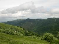 Panorama sulla strada dell'ascesa