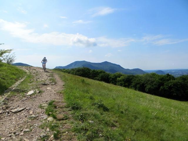 Percorrendo la salita che parte dall'Alpe Vicania