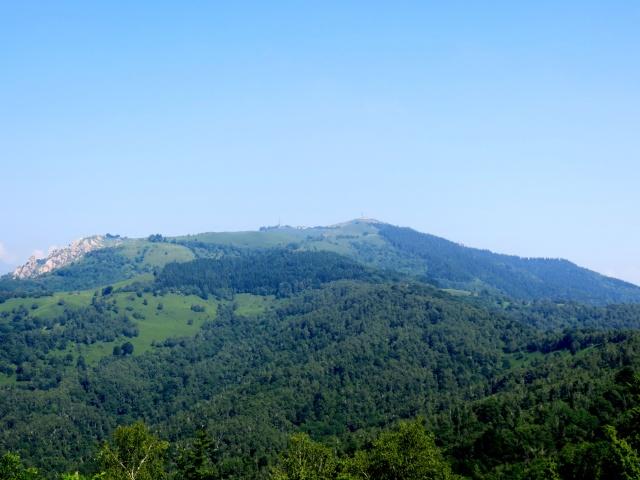 Salita da Coiromonte al Monte Falò, panorama sul Monte Mottarone