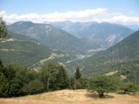 Discesa nel bosco in direzione di Rasa - panorama sulla Val Maggia