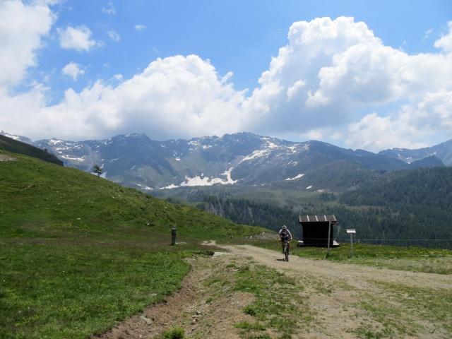 Salita per il Colle di Fontana Fredda, nei pressi dell'Alpe Glavin