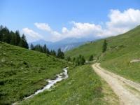 Salita per il Colle di Fontana Fredda da Chamois, tratto impegnativo prima dell'alpe Foresus