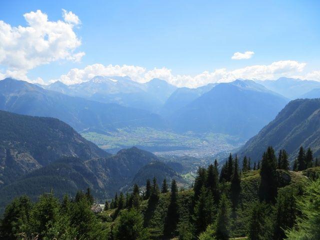 Panorama su Blatten e Briga nei pressi di Belalp