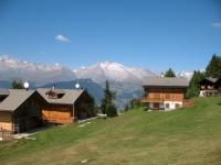 Rosswald - panorama sui rilievi dell'altopiano dell'Aletsch - Riederalp e Bettmeralp