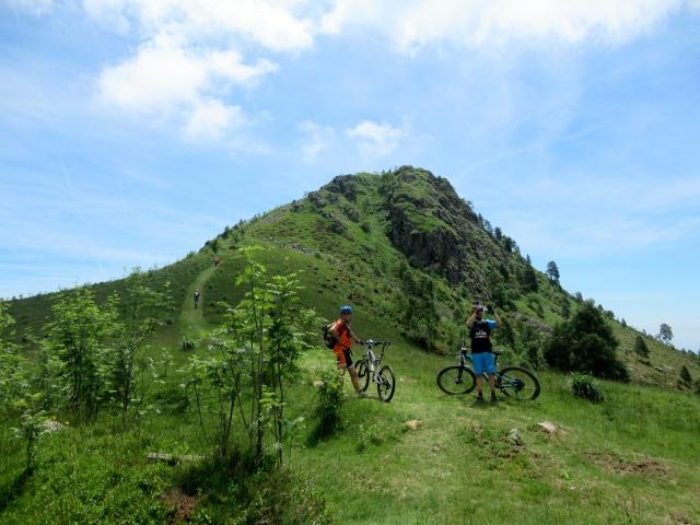 Monte Calvo - all'inizio del ripido sentiero che conduce alla vetta