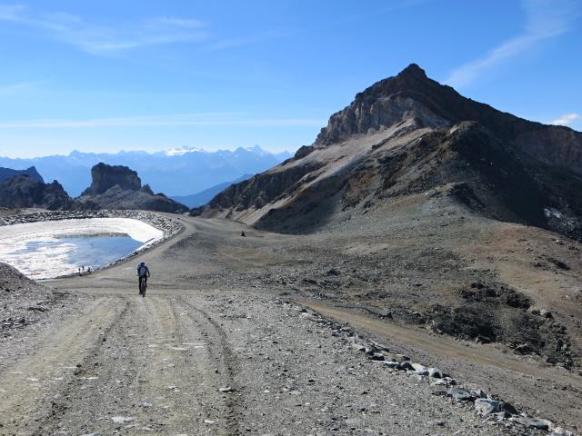 In direzione del passo del Plateau Rosà