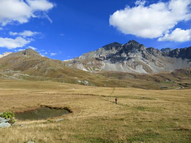 Percorrendo il sentiero prativo sulla via di ritorno per Cervinia