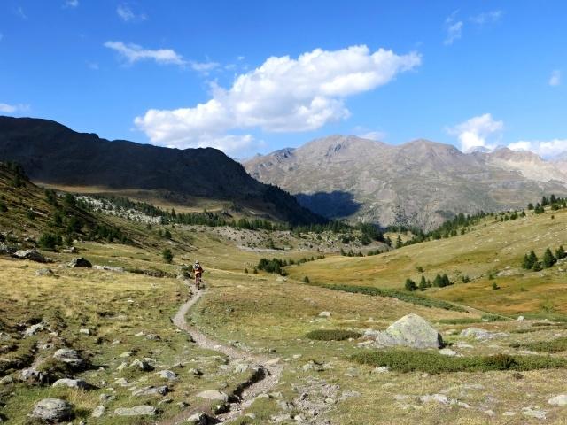 Discesa su sentiero dal Col de Buffère