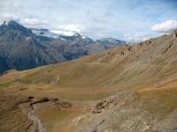 Vista sulla vallone percorso in single-track per l'ascesa finale al Colle di Sollieres