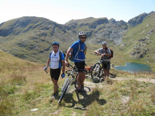 Nei pressi del lago Coliou al termine del 2° tratto a spinta