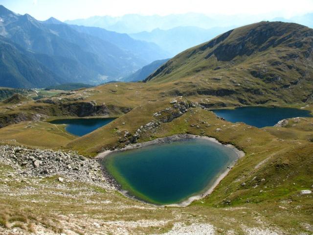 Lago coliou (in centro) e lago della battaglia