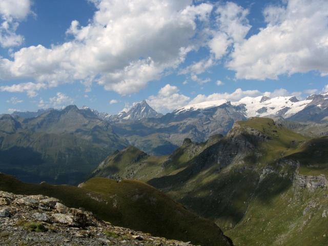Monte Cervino e catena del Monte Rosa
