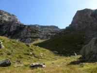 Panorama sul Colle palasina al termine della discesa lungo l'impegnativo sentiero