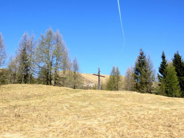 La croce posta in prossimità della Colma di Craveggia