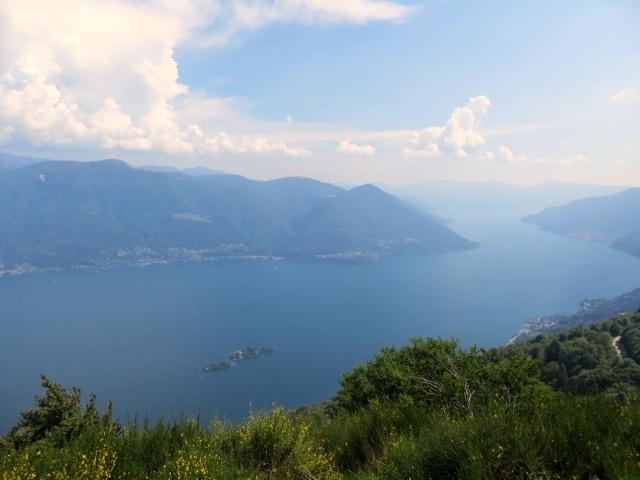 Ottimo panorama del Lago Maggiore dalla Corona dei Pinci