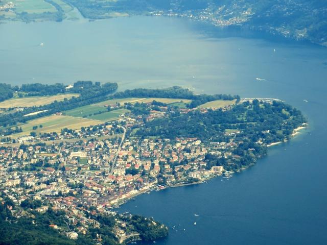 Ascona e la foce della Maggia nel Lago Maggiore