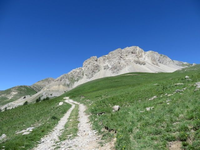 Salita a Fort de Lenlon-Col du Granon, panorama sul Crête de Roche de Gauthier