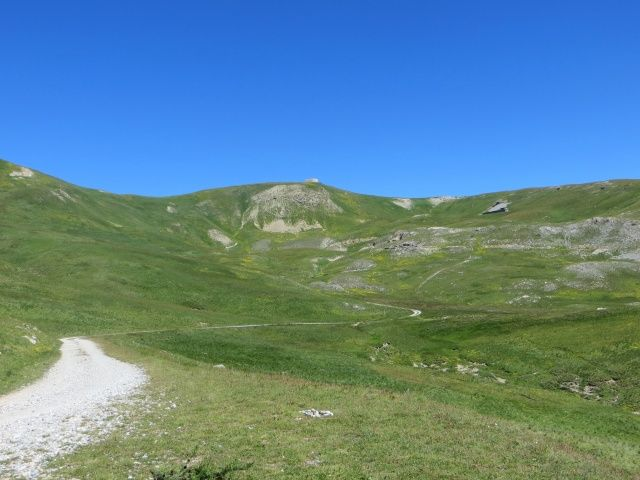 Panoramica sulla salita finale per il Fort de Lenlon