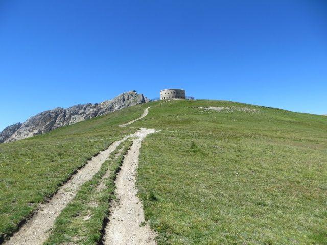 Salita finale per il Fort de Lenlon