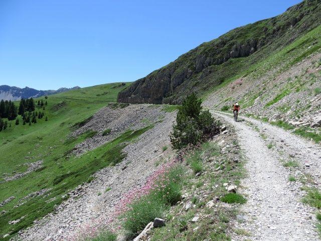 In direzione del Col du Granon da Fort de Olive