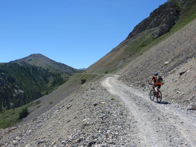 Ultimo tratto di salita sulla strada militare al Col du Granon