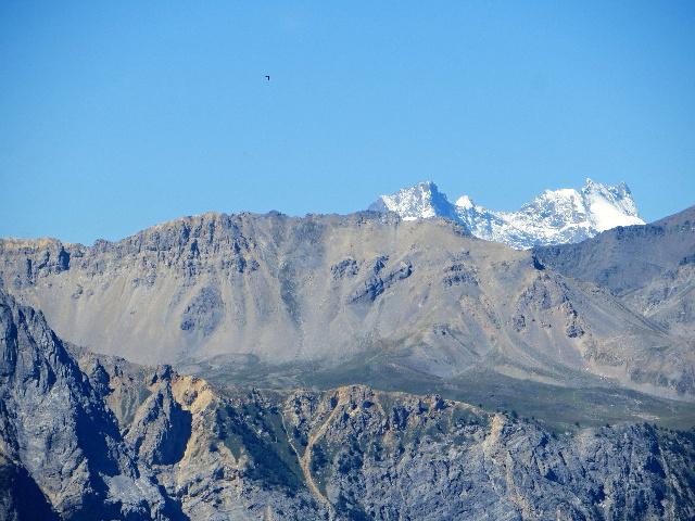 Salita al forte Foens - particolare del Massiccio degli Ecrins: La Meije (3.983 m)