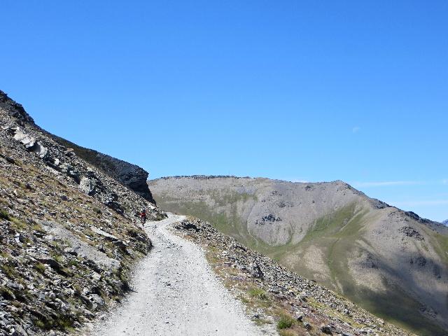 Lungo le pendici della Roche de l'Aigle in direzione del Colle Jafferau