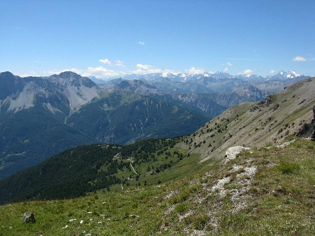 In direzione del Colle Jafferau - vista sul Forte Foens