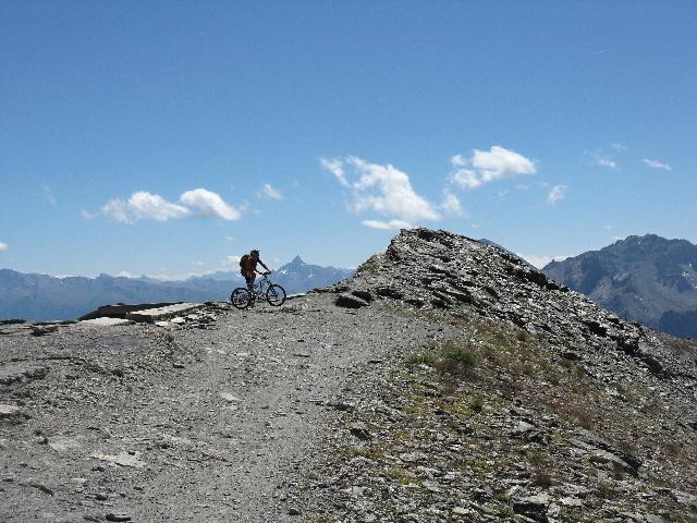 Sulla sommità del Monte Jafferau