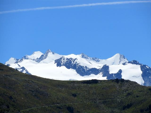 Sentiero da Sädolti per il Gebidumpass - Gruppo del Mischabel con il Balfrin (3.796), Bigerhorn (3.626), Hohberghorn (4.219), Dürrenhorn (4.035), Nadelhorn (4.327)