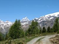 Salita al lago Saler superiore - Cervino sullo sfondo