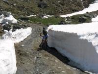 Alpe Contenery - passaggio con neve