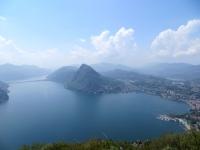 Panoramica su Lugano dalla terrazza del Monte Brè