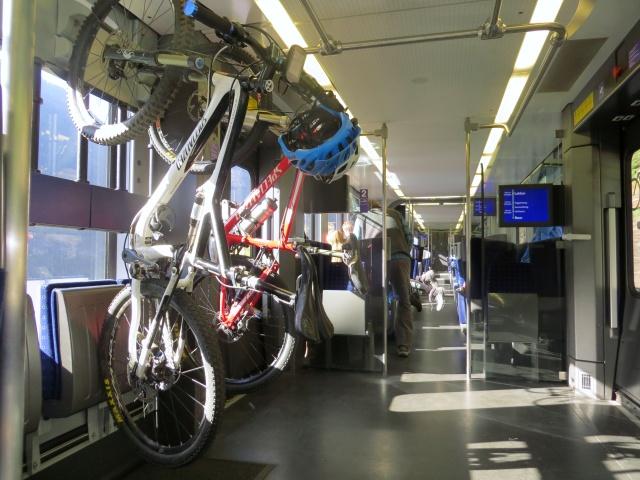 Il nostro itinerario inizia sul treno verde del Loetschenberg