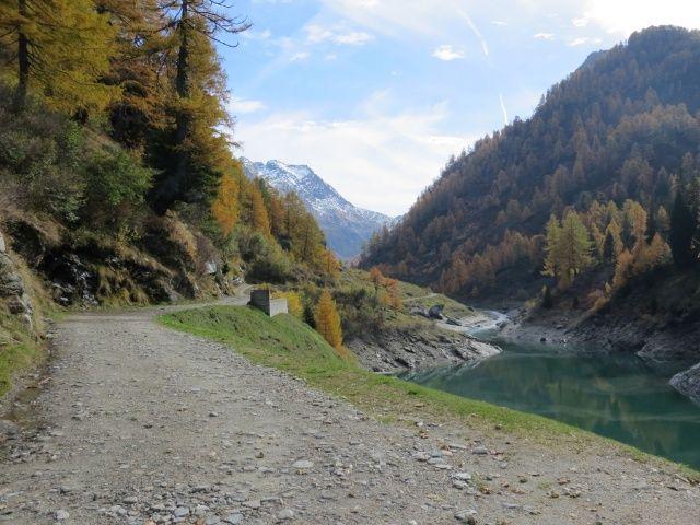 Val di Carassino, nei pressi della diga di Carassino