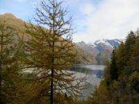 Lago di Luzzone e relativa diga, particolare