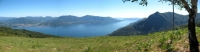 Discesa da Pian Bello - panoramica sul Lago Maggiore