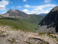 Col Chavanne, panorama sulla Val Chavanne con Berrio Blanc a sinistra