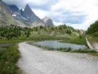 Discesa in Val Veny - Lago Combal