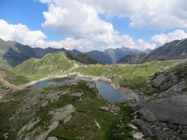 Panorama sul Lago scuro dalla diga del Lago del Naret