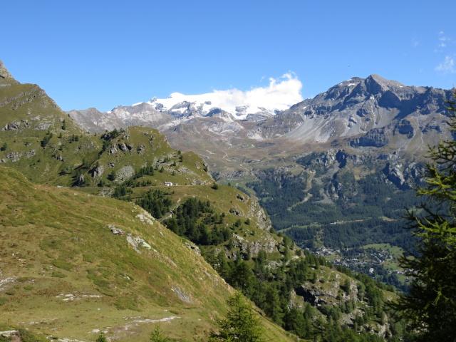 In direzione del Lago di Cignana, panorama