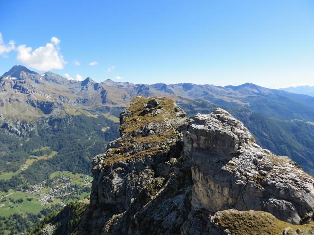 Primo piano sulla vetta del Monte Pancherot