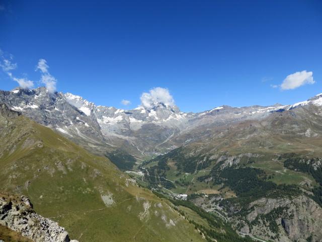 Panorama sull'alta Valle del Cervino dalla sommità del Pancherot