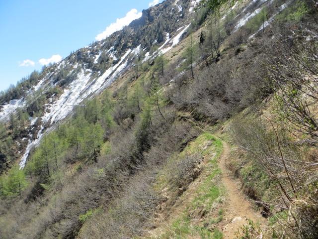 Sentiero per Brusada nel tratto pedalabile