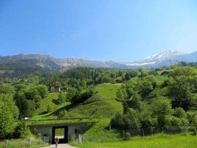 Ciclabile della Val Leventina, panorama